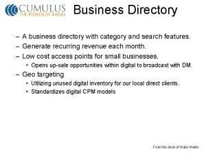Business Directory A business directory with category and