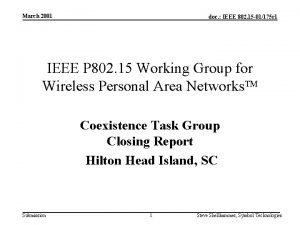 March 2001 doc IEEE 802 15 01175 r