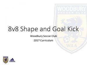 8 v 8 Shape and Goal Kick Woodbury