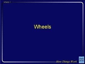 Wheels 1 Wheels Wheels 2 Question The light