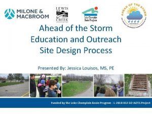 Ahead of the Storm Education and Outreach Site