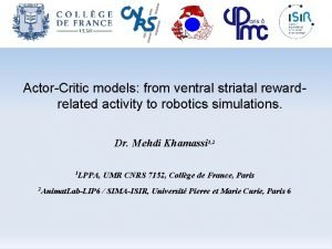 Intro Electrophysiology Modelling Discussion slide 1 59 ActorCritic