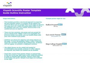 Viapath Scientific Poster Template Guide Outline Instruction Usage