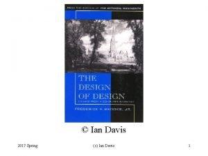 Ian Davis 2017 Spring c Ian Davis 1