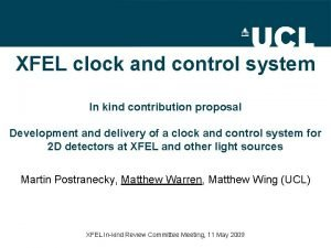XFEL clock and control system In kind contribution