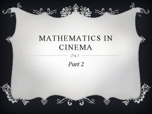 MATHEMATICS IN CINEMA Part 2 THE DAM BUSTERS