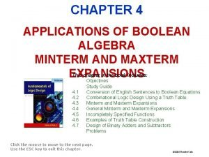 FIGURES FOR CHAPTER 4 APPLICATIONS OF BOOLEAN ALGEBRA