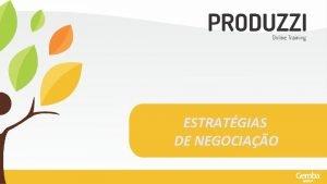 ESTRATGIAS DE NEGOCIAO ESTRATGIAS DE NEGOCIAO Mdulo 1