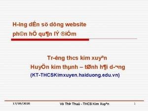 H ng dn s dng website phn h