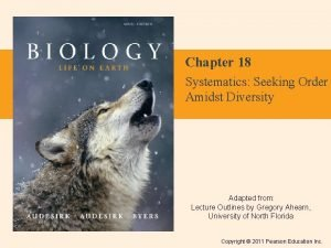 Chapter 18 Systematics Seeking Order Amidst Diversity Adapted
