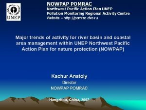 NOWPAP POMRAC Northwest Pacific Action Plan UNEP Pollution