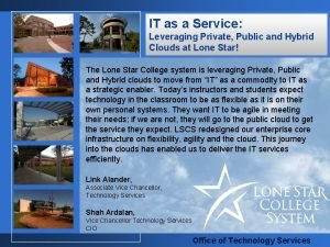 IT as a Service Leveraging Private Public and