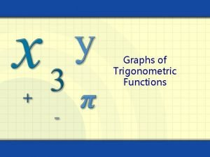Graphs of Trigonometric Functions Graph of the Sine