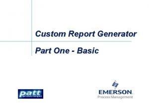 Custom Report Generator Part One Basic Custom Report