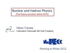 Nuclear and Hadron Physics The theory activities within