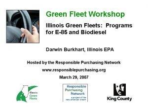 Green Fleet Workshop Illinois Green Fleets Programs for