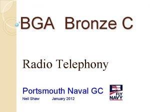 BGA Bronze C Radio Telephony Portsmouth Naval GC