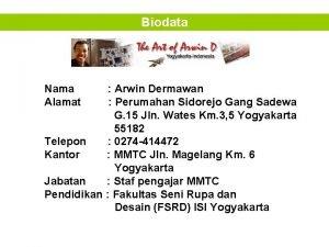 Biodata Nama Alamat Arwin Dermawan Perumahan Sidorejo Gang