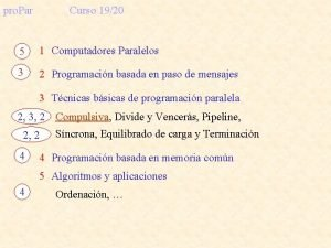 pro Par Curso 1920 5 1 Computadores Paralelos