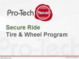 Secure Ride Tire Wheel Program Secure Ride 07
