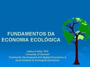 FUNDAMENTOS DA ECONOMIA ECOLGICA Joshua Farley Ph D
