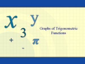 Graphs of Trigonometric Functions DAY 1 OBJECTIVES 1