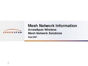 Mesh Network Information Arrow Span Wireless Mesh Network