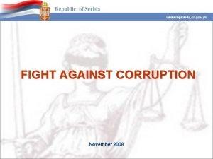 www mpravde sr gov yu FIGHT AGAINST CORRUPTION