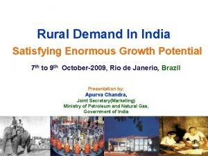 Rural Demand In India Satisfying Enormous Growth Potential