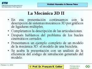 Modelado Matemtico de Sistemas Fsicos La Mecnica 3