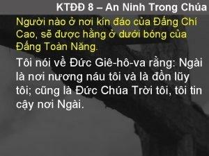 KT 8 An Ninh Trong Cha Ngi no