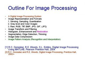 Outline For Image Processing A Digital Image Processing