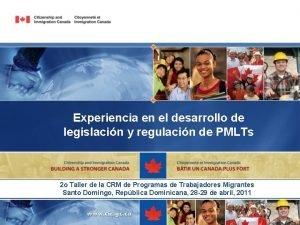 Experiencia en el desarrollo de legislacin y regulacin