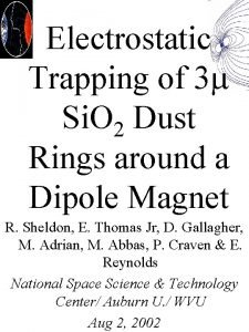 Electrostatic Trapping of 3 Si O 2 Dust