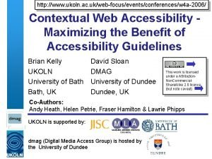 http www ukoln ac ukwebfocuseventsconferencesw 4 a2006 Contextual