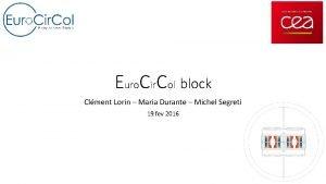 Euro Cir Col block Clment Lorin Maria Durante