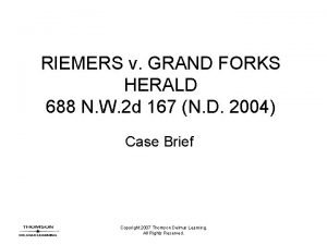 RIEMERS v GRAND FORKS HERALD 688 N W