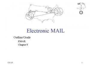 Electronic MAIL OutlineGoals EMAIL Chapter 9 CS 125