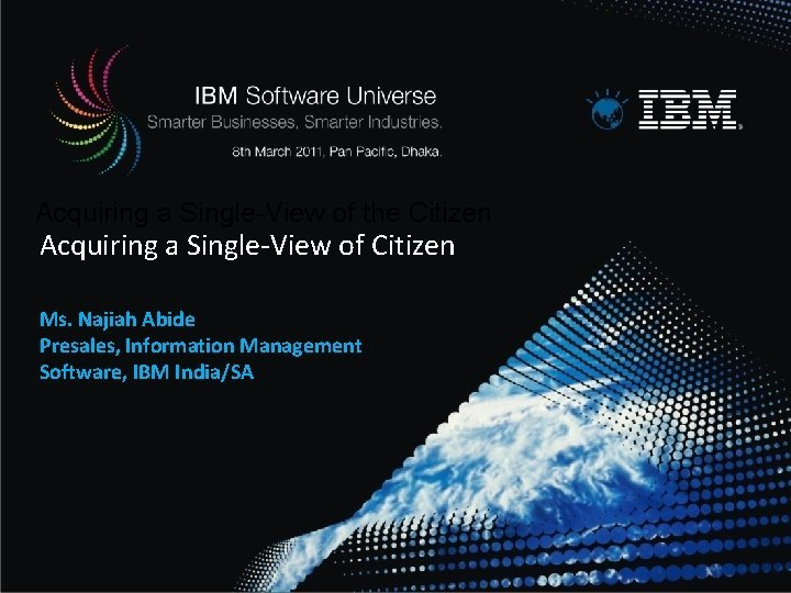Acquiring a SingleView of the Citizen Acquiring a