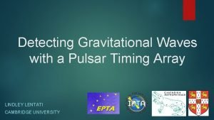 Detecting Gravitational Waves with a Pulsar Timing Array