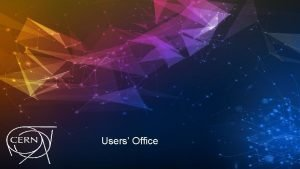 Users Office Users Office news Renovation of the