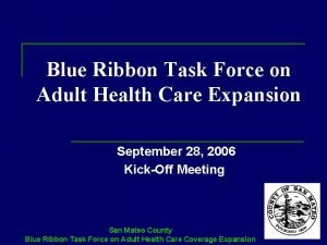 Blue Ribbon Task Force on Adult Health Care