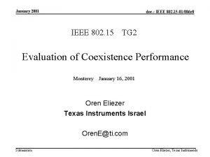 January 2001 doc IEEE 802 15 01086 r
