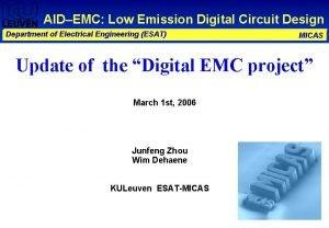 AIDEMC Low Emission Digital Circuit Design Department of