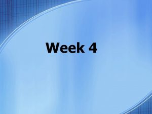 Week 4 Tuesday Bellringer Planner Please copy your