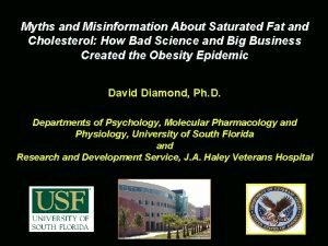 Myths and Misinformation About Saturated Fat and Cholesterol