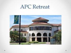 APC Retreat Academic Programs Committee Philosophy The Academic