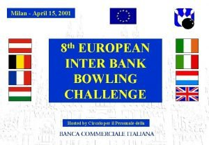 Milan April 15 2001 th 8 EUROPEAN INTER