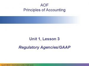 AOF Principles of Accounting Unit 1 Lesson 3