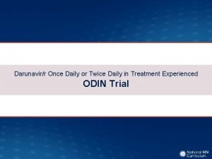 Darunavirr Once Daily or Twice Daily in Treatment